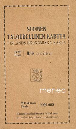 Antikvaarinen Kirjakauppa Menec Suomen Taloudellinen Kartta