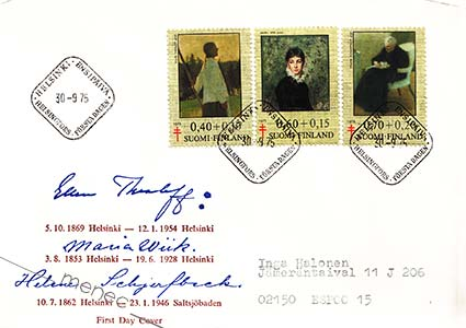 FDC, Thesleff/Wiik/Schjerfbeck 1975