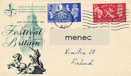 Iso-Britannia, Brittiläinen juhlanäyttely 1951, FDC
