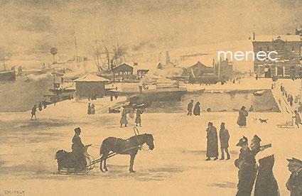 Edelfelt, Albert - Helsingin satama talvella v. 1890