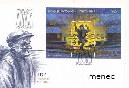 Ahvenanmaa, Pohjola - Mytologia 2006, 2x pienoisarkki ÅBL6 + FDC