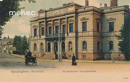Bock, Adolf - Helsinki, Ylioppilastalo, vossikka