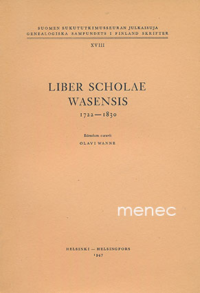 Liber scholae Wasensis 1722-1830