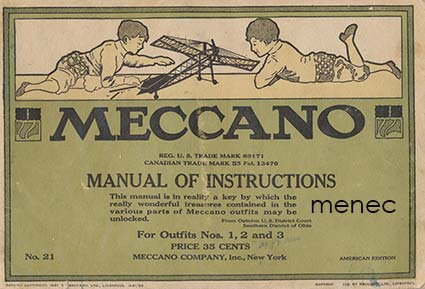 Meccano. Manual of Instructions