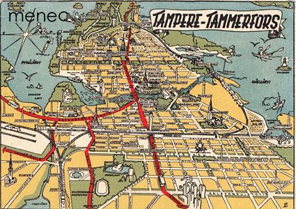Tampere, kartta