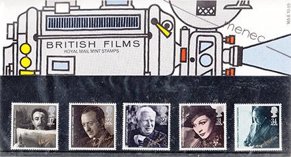 British Films, 5 postimerkkiä kotelossa